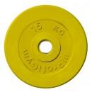 Диск/Блин 15 кг желтый Profigym ДТРЦ-15