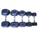 Гантельный ряд гексагональный от 1 до 10 кг Grome DB139