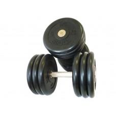 Комплект гантелей обрезиненных Barbell MB Проф 13,5 кг-21 кг