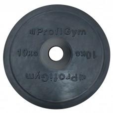 Диск/Блин 10 кг/51 мм черный Profigym ДО-10/51