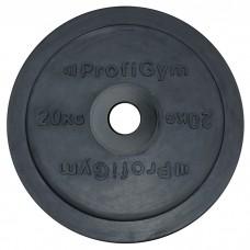 Диск/Блин 20 кг/51 мм черный Profigym ДО-20/51