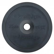 Диск/Блин 25 кг/51 мм черный Profigym ДО-25/51