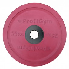 Диск/Блин 25 кг/51 мм красный Profigym ДОЦ-25/51