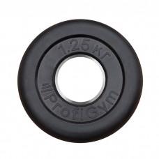 Диск/Блин 1.25 кг черный Profigym ДТР-1.25