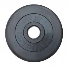 Диск/Блин 10 кг черный Profigym ДТР-10