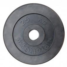 Диск/Блин 25 кг черный Profigym ДТР-25