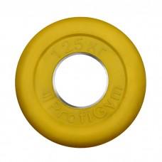 Диск/Блин 1.25 кг желтый Profigym ДТРЦ-1.25