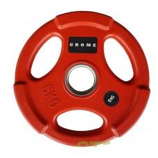 Диск/блин 5 кг/51 мм GROME COLOUR WP074-5