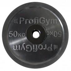 Диск/Блин 50 кг/51 мм черный Profigym ДО-50/51
