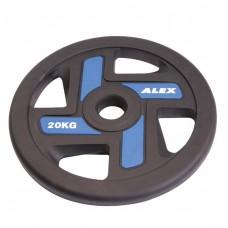 Диск/Блин 20 кг/51 мм Alex P-TPU-20K