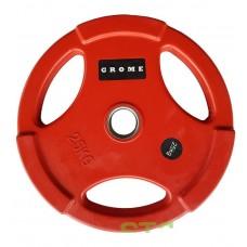 Диск/блин 25 кг/51 мм GROME COLOUR WP074-25