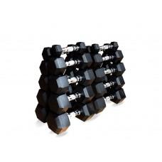 Гантельный ряд гексагональный Fitness Tools FT-HEX-SET-110