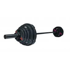 Штанга разборная 88 кг Fitness Tools FT-2HGSET-88-BLACK