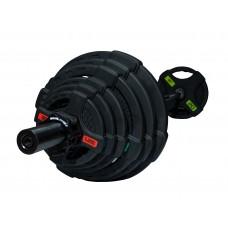 Штанга разборная 128 кг Fitness Tools FT-2HGSET-128-BLACK