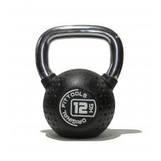 Гиря 12 кг полиуретановая Fitness Tools FT-KB-CPU-12